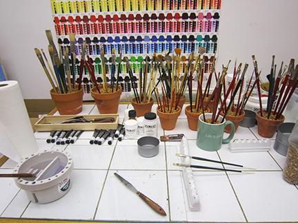 painting studio lighting. mary ahernu0027s painting studio setup lighting