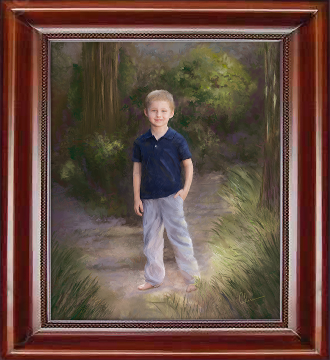 Young Boy on the Path