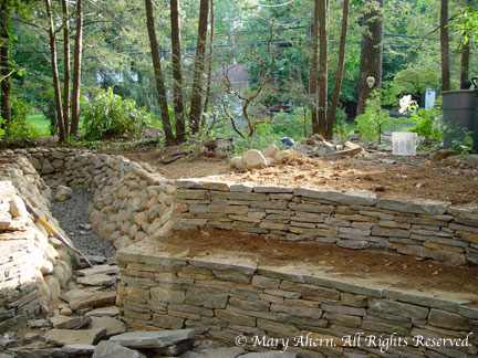 Stone walls stones and cap d 39 agde on pinterest for Terrace garden meaning
