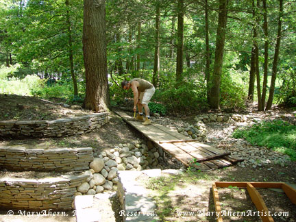 """My son Michael helped  to dismantle the nine year old """"temporary"""" bridge"""