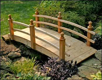 I selected this bridge style from GazeboCreations.com