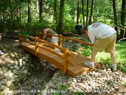 It was useful to have two people to put the handrails together