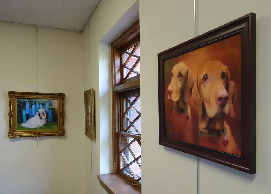Mary Ahern Art Exhibition at theEmma S Clark Library in Setauket NY